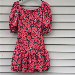 Vintage floral bubble mini dress